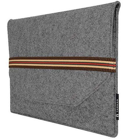 Tarkan Slim & Protective Felt Sleeve Cover for Laptops, MacBook Air Pro (Classic Grey): Best Laptop Sleeve