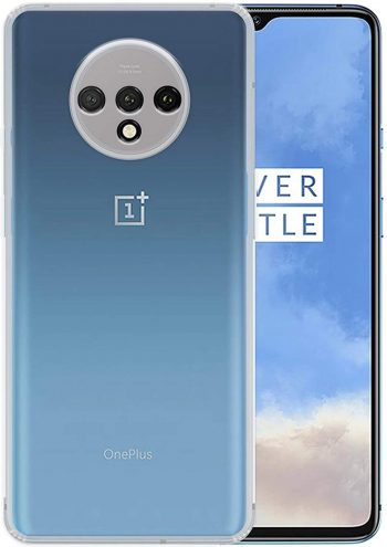 ValueActive Case for OnePlus 7T Case Cover Slim Crystal Clear Soft TPU Back Cover Anti-Dust Plugs Protection Skin Camera Protect Back Case Cover for OnePlus 7T (Transparent): Best OnePlus 7T Cover