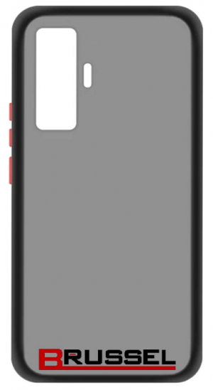 Brussel Semi-Transparent Case with Hard PC: Phone Case for Vivo X50 Pro