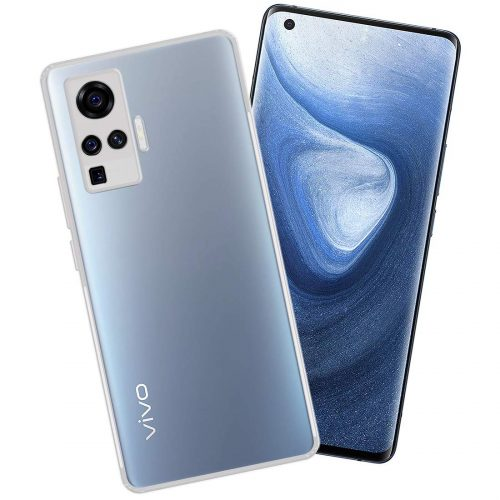 Casotec Slim Soft Silicon Transparent Cover: Phone Case for Vivo X50 Pro