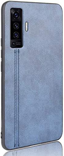 Excelsior Leather Case Premium Denim Blue: Phone Case for Vivo X50 Pro