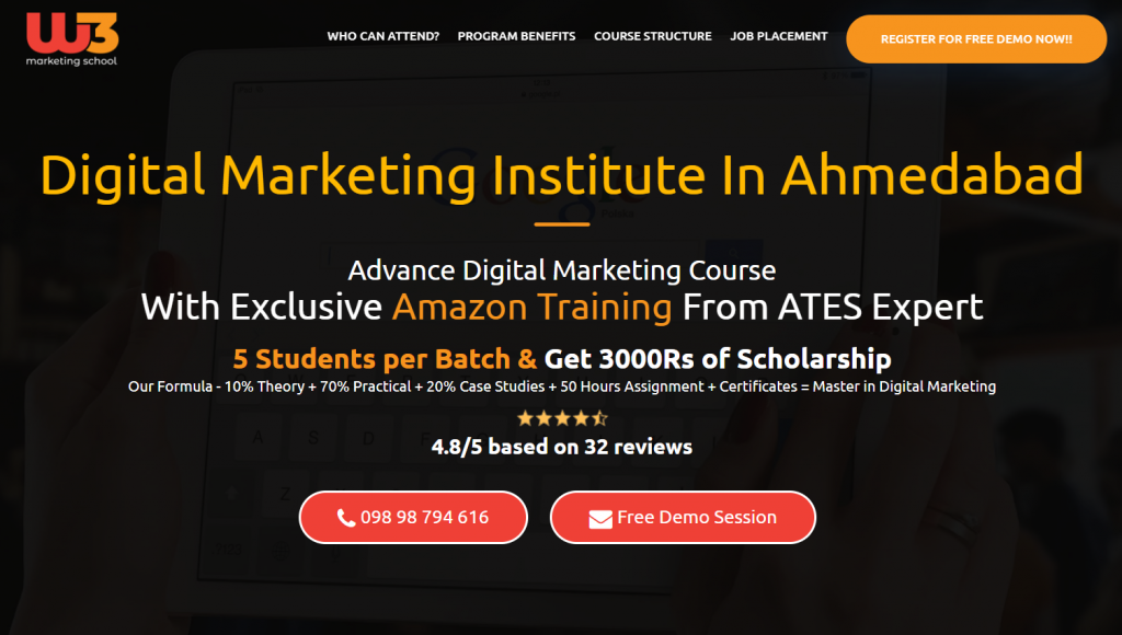 W3 digital marketing institute