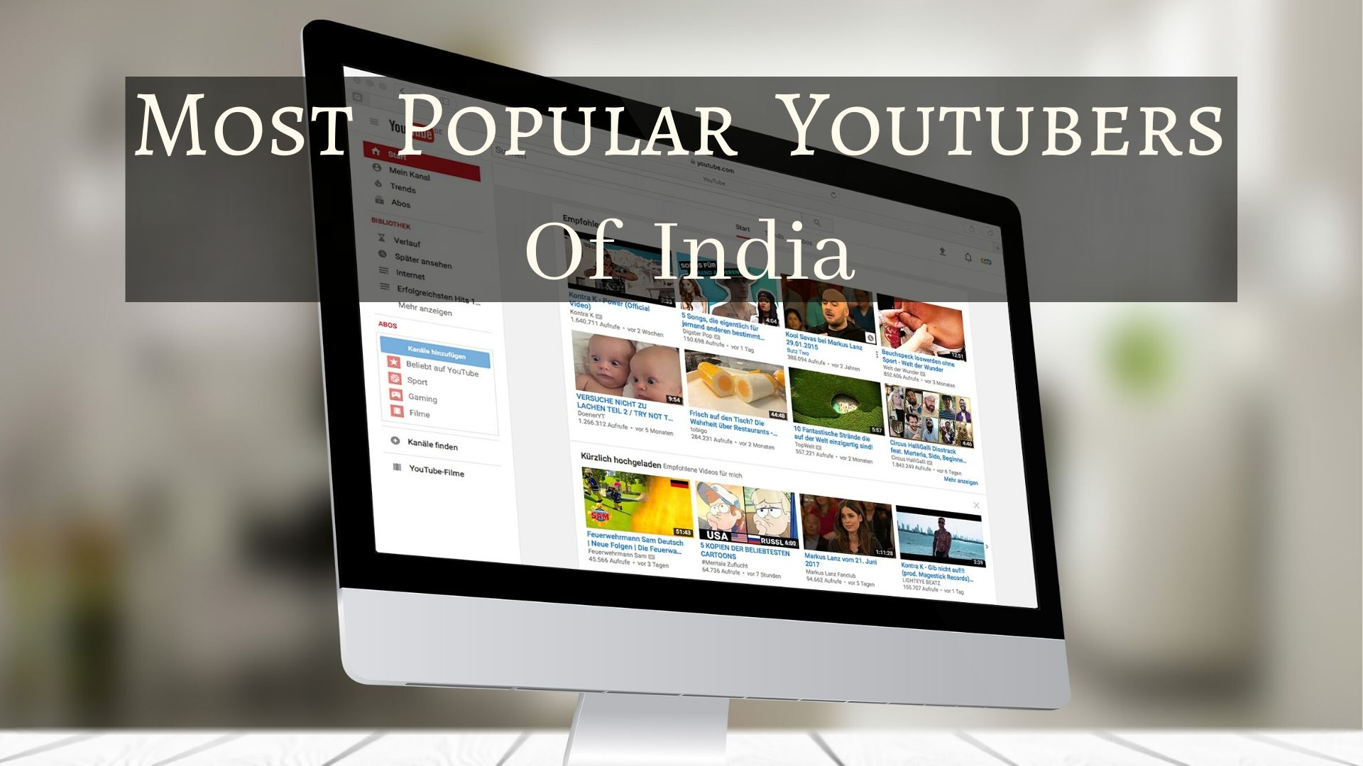 most popular youtubers of india