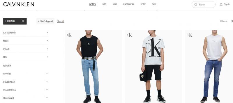Calvin Kleinbest men clothing brand