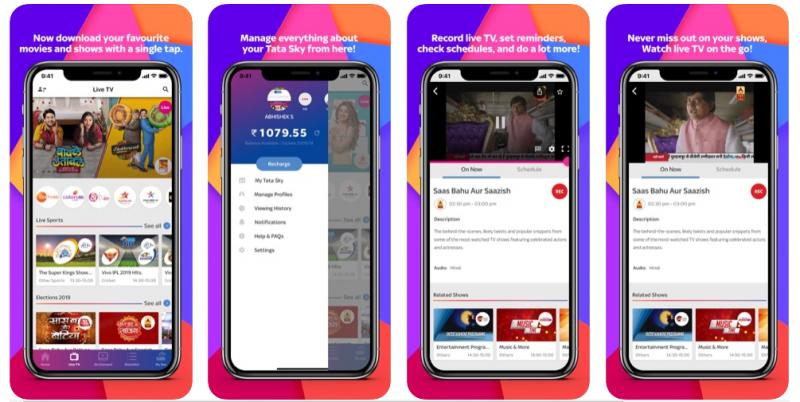 Tata Sky Mobile Best T.V. App