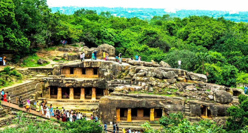 Udaygiri and Khandagiri caves mysterious caves in india