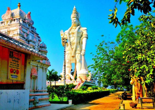 Veera Abhaya Anjaneya Hanuman Swami statue in india