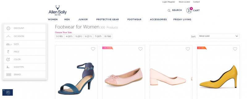 Allen Solly: Women's Footwear Brand
