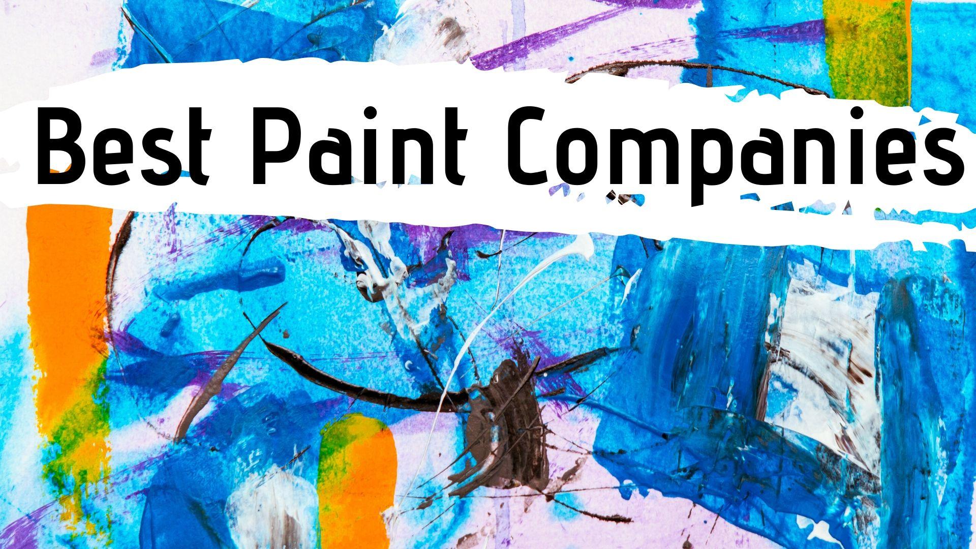Best Paint Companies india
