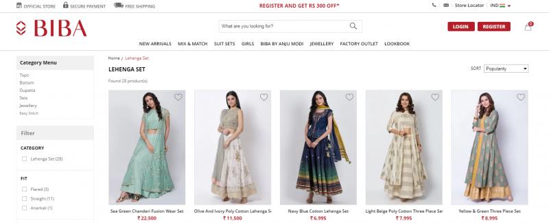 Biba.in: online clothing store