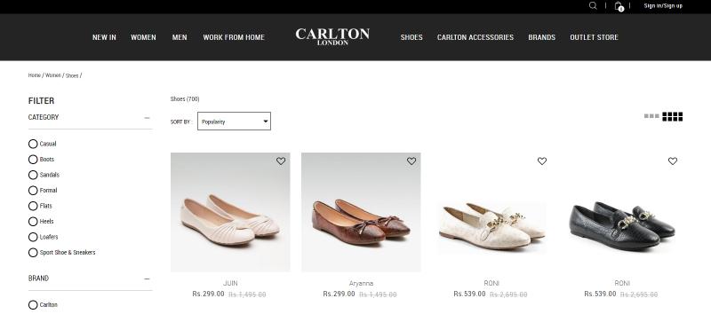 Carlton London: Women's Footwear Brand