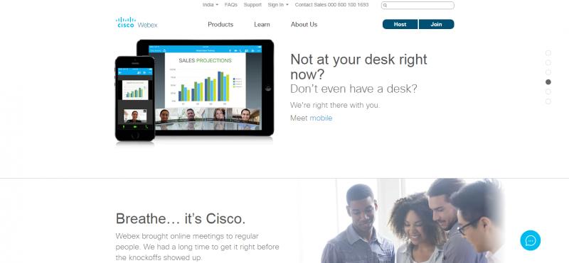 Cisco WebEx : online video chat