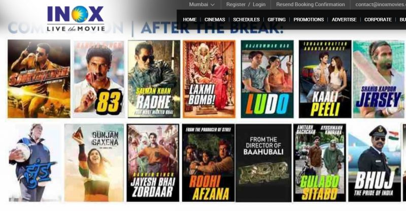 INOX: online movie ticket booking site and app