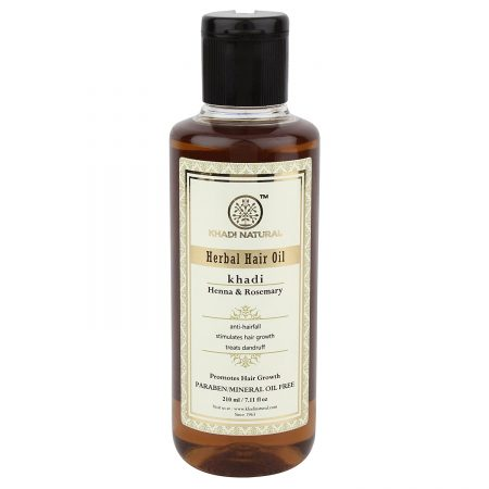 Khadi Natural Rosemary And Henna Hair Growth Oil Best Anti Hair Fall Oil