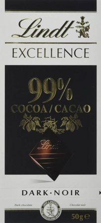 Lindt Excellence 99% Cocoa Chocolate Bar: Best Dark Chocolate In India