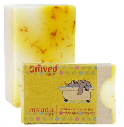 Omved MRUDU Almond and Saffron Soap: Best Soap For Kids
