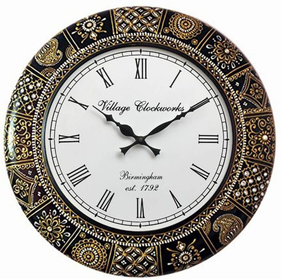 RoyalsCart Floral Design Painting Analog Wall Clock: Best Wall Clock In India