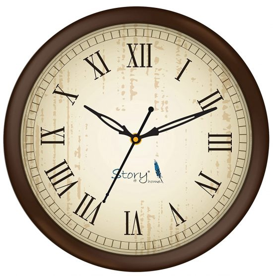 Story@Home 10-inch Round Shape Wall Clock: Best Wall Clock In India
