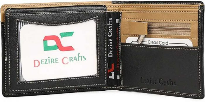 Dezire Crafts formal black wallet: Best Wallet