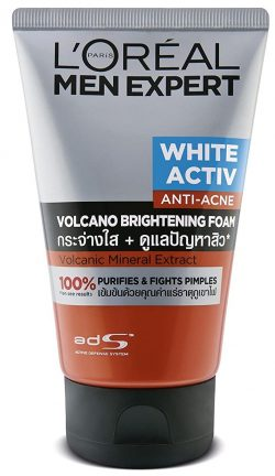 L'Oeal Paris Men Expert White Active Volcano Red Foam Face Wash: Best Face Wash In India