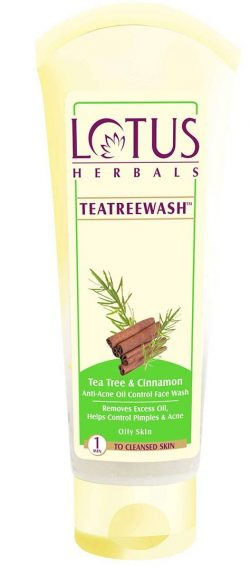 Lotus Herbals Tea Tree & Cinnamon Anti-Acne Oil Control Face Wash: Best Face Wash In India