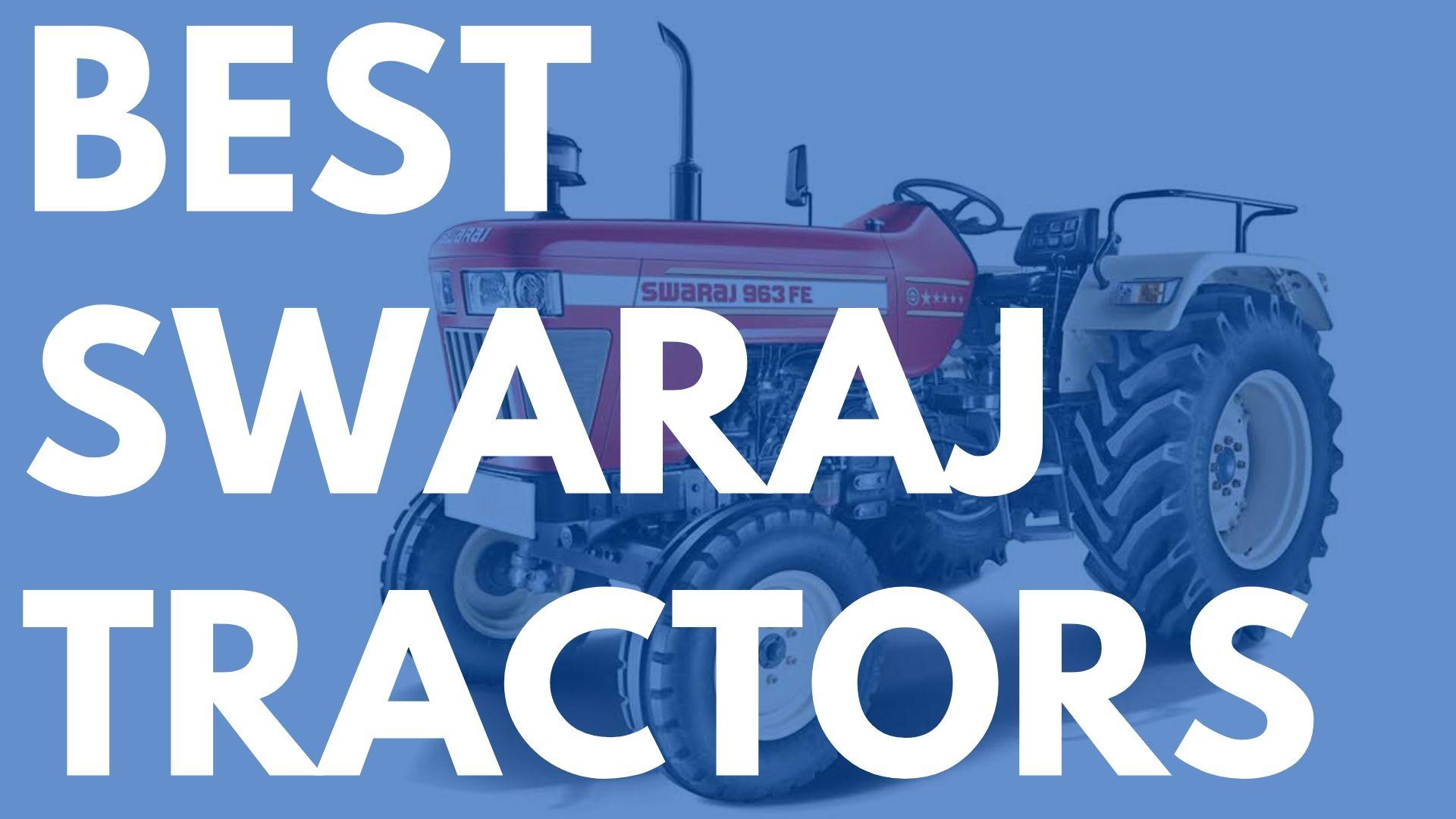 best swaraj tractors