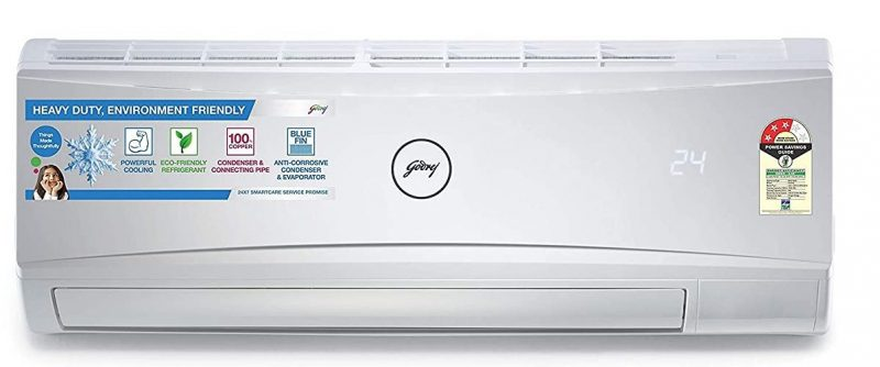 Godrej 1 Ton 3 Star Split AC (Copper GSC 12RTC3-WRA White): Air Conditioner Under 30,000