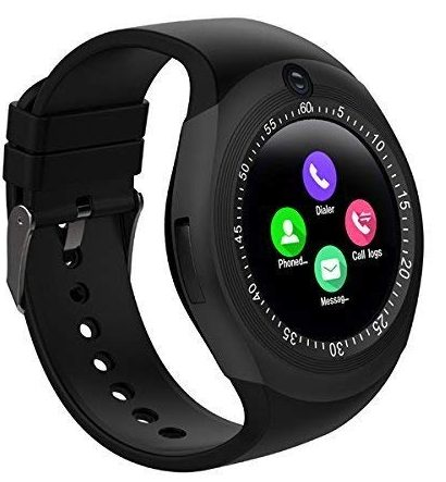 KEMIPRO Touch Screen Bluetooth Wireless Y1S Smart Watch Or Android Watch with Camera and sim Card Support Compatible with All Android Smartphones (Black): Best Smart Watch To Buy Under Rs 2000