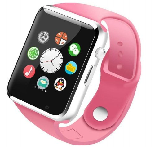 MAKECELL Pink Bluetooth Smartwatch Compatible with All 3G, 4G Phone with Camera and Sim Card Support A1 for Men boy Kids Girls and Women: Best Smart Watch To Buy Under Rs 2000