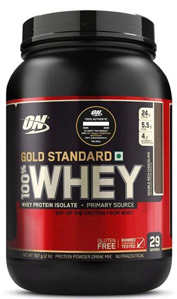 Optimum Nutrition (ON) Gold Standard 100% Whey Protein Powder: Best Protein