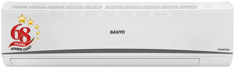 Sanyo 1.5 Ton 3 Star Dual Inverter Wide Split AC (Copper SI SO-15T3SCIA White): Air Conditioner Under 30,000