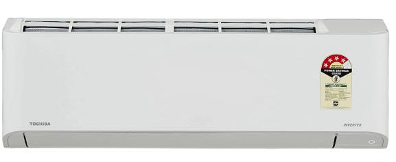 TOSHIBA 1.5 Ton 4 Star Inverter Split AC (Copper, RAS-18BKCV-IN+RAS-18BACV-IN, Gloss White)
