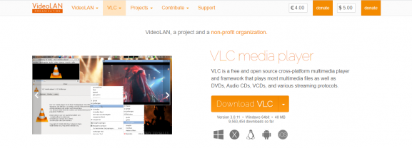 VLC - app for converting video to audio