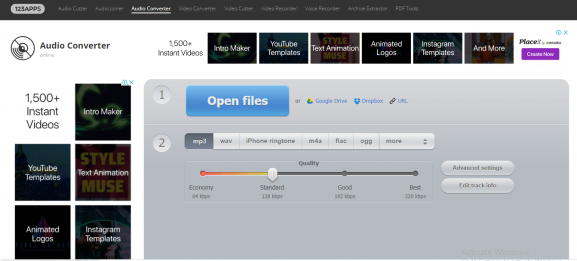 online-audio-converter - tool for converting video to mp3