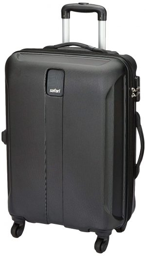 Safari Thorium Sharp Antiscratch 55 Cms Polycarbonate Black Cabin 4 wheels Hard Suitcase(21.65 Inch): Best Suitcases, Trolley Bags And Luggage To buy In India