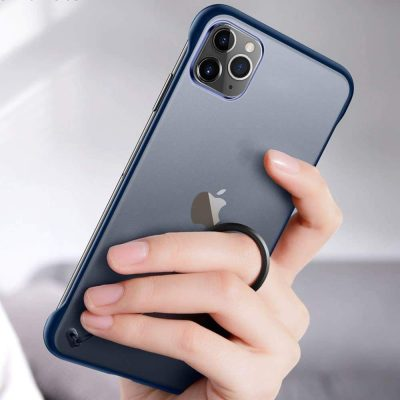"""Amozo Frameless Series Matte Semi-Transparent Ultra Slim Case with Camera Protection for iPhone 11 Pro Max (6.5"""") - Black: Best iPhone 11 Pro Max Cover"""