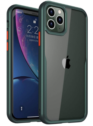 Bounceback Transparent Clear Shock Proof Back Cover for iPhone 11 Pro - Minty Green: Best iPhone 11 Pro Cover