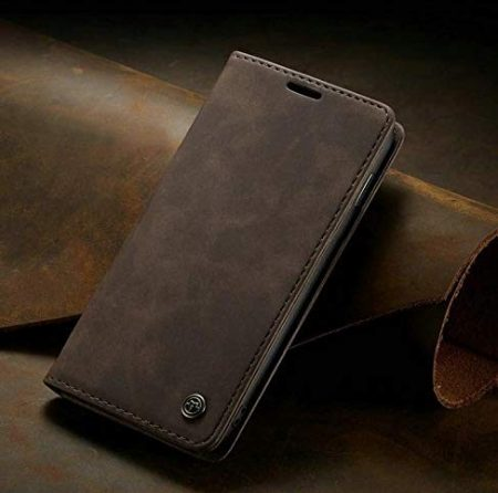 """ClickCase for iPhone 11 Pro Max (6.5"""") Soft Leather Wallet and KickStand with Magnetic Closure Lightweight Slim Flip Case (Coffee Brown): Best iPhone 11 Pro Max Cover"""