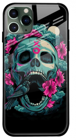 Colorful Skull Texture Glass Cover for Apple iPhone 11 Pro Max: Best iPhone 11 Pro Max Cover