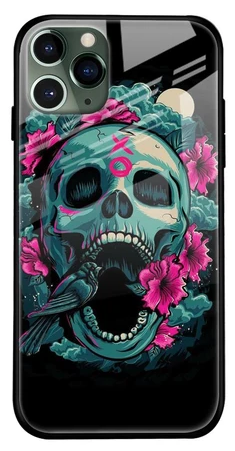 Colorful Skull Texture Glass Cover for Apple iPhone 11 Pro- Best iPhone 11 Pro Cover
