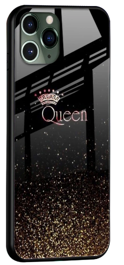 I Am The Queen Glass Cover for Apple iPhone 11 Pro Max: Best iPhone 11 Pro Max Cover