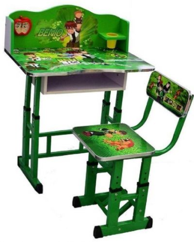 Kiddly Adjustable Study Table and Chair Set (Green): Best Study Table For Kids In India