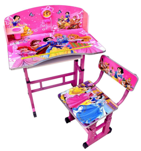 Kiddly Educational Adjustable Desk (Wood Pink): Best Study Table For Kids In India