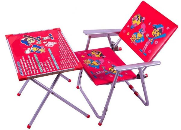 M/s AVANI TRADING Table Chair Set (Red): Best Study Table For Kids In India