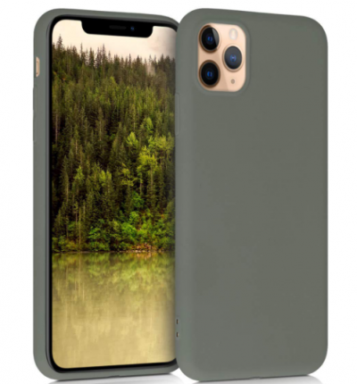 """Nik case for iPhone 11 pro max (6.5"""") With Soft Liquid Silicone Gel & Microfiber Lining - Olive: Best iPhone 11 Pro Max Cover"""
