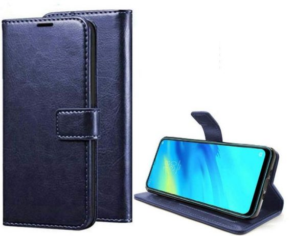 "PAKME XUSIVE Leather Wallet Flip Book Cover for iPhone 11 Pro, 5.8"" (Blue): Best iPhone 11 Pro Cover"