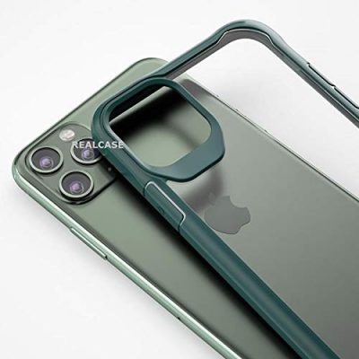 REALCASE with Clear Gel TPU Bumper Case for iPhone 11 Pro Max 6.5 (2019) Release [Shock Proof] [Anti-Slip] [Scratch Resistant] (B Green): Best iPhone 11 Pro Max Cover
