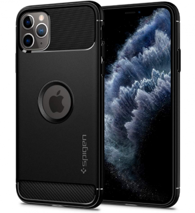 Spigen Rugged Armor Back Cover for iPhone 11 Pro Max - Black: Best iPhone 11 Pro Max Cover