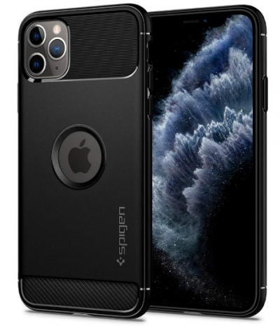Spigen Rugged Armor Mobile Back Cover Designed for iPhone 11 Pro - Black: Best iPhone 11 Pro Cover