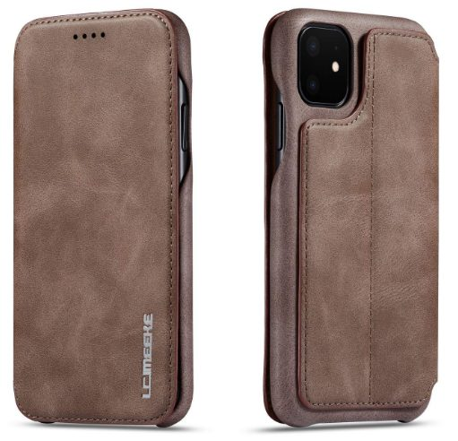 Techstudio for iPhone 11 Pro 5.8 Inch Flip Cover Wallet Style Kickstand Magnetic Closure Case - Coffee: Best iPhone 11 Pro Cover